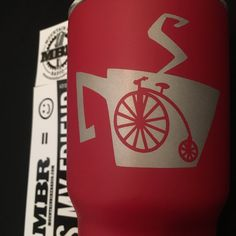 Coffee & Bikes - Stainless Steel Double Wall Mug #coffeeandbikes #coffeecyclist #cycling #coffeemug #stainlesstumbler