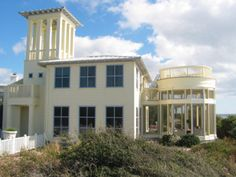 Real Estate Seaside FL Properties Condos Cottages Homes Florida Rentals, Seaside Florida, Narrow Lot House Plans, Beach Properties, Exterior Paint Colors, Cottage Homes, Country Decor, House Tours, Cottages