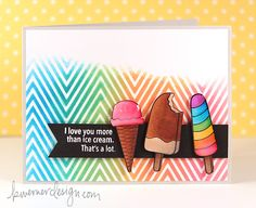 Sweet Treat Sunday such a Fun card by Kristina Werner for the Simon Says Stamp Blog using SSS exclusives.  July 2014