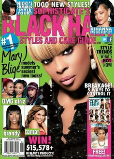 Magazine photos featuring Mary J. Blige on the cover. Mary J. Blige magazine cover photos, back issues and newstand editions. Black Hair Magazine, Cool Magazine, Magazine Covers, Rihanna You, Omg Girlz, Editing Websites, List Of Magazines, Mary J, Beauty Guide