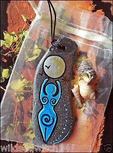 Magickal Ritual Sacred Tools:  Sea Stone Spiral Goddess Amulet Charm Talisman Wall Hanging.