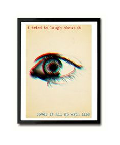 Boys Don't Cry The Cure inspired Art Print