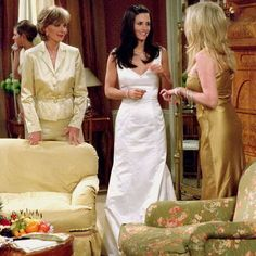 12 of the best fictional wedding dresses: The one where Monica marries Chandler in a House of Bianchi fitted gown. www.handbag.com