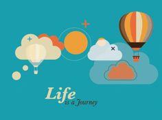 illustrations of hot air balloon over the cloudy sky graphic set for travel design graphic art work