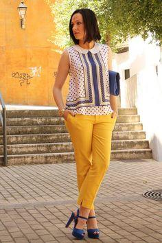 Looks con pantalones largos amarillos - Trendtation