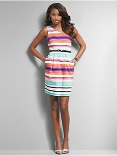 Major fan of a dress w/ pockets and I love the color of these stripes!