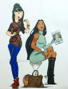 Mulan and Pocahontas