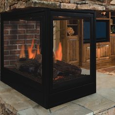Shop our top selection of multi-sided fireplaces for a multi-room view of the fire! Choose from gas & wood multi-sided & see-through fireplaces. 3 Sided Fireplace, Direct Vent Fireplace, Fireplace Inserts, Fireplace Design, Natural Gas Fireplace, Sunrooms, Fireplaces, House Ideas, Pearl