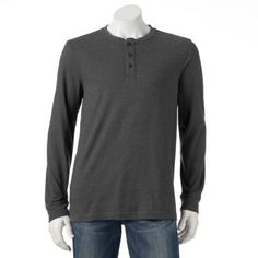 Big & Tall Croft & Barrow® Classic-Fit Solid Easy-Care Henley $17.99