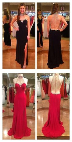 Bg771 Elegant Prom Dress,Red Evening Dresses,Mermaid Backless Long