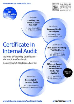Informa ME Audit Training: Effective Report Writing And Communication Skills For Auditor - The course is designed to enable you to develop the key skills of a modern auditor – communication, teamwork, negotiation, planning and time management – to name but a few. 10 - 14 April 2016 • Sheraton Hotel, Mall of the Emirates, Dubai, UAE