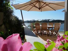Hossegor du Lac, Hossegor, Aquitaine, France. Holiday villa with pool overlooking Hossegor lake.