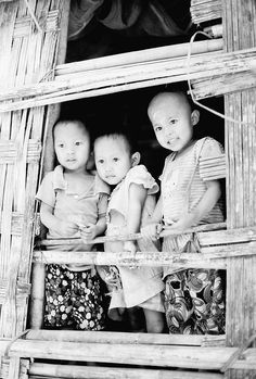 Chin Village young ones.