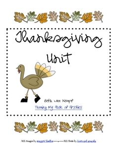 Math, Writing, and Reading, activities to use throughout November. Number word matching, syllables, making words,  sticker stories, turkey glyph, p...