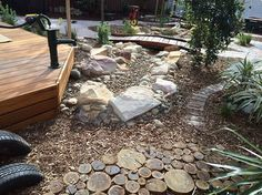 The different textures used in the Marrickville Rd Preschool outdoor environment provide our children with invaluable sensory experiences.