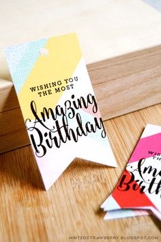 FREE printable Birthday gift tag: wishing you the most amazing birthday | MINTED STRAWBERRY
