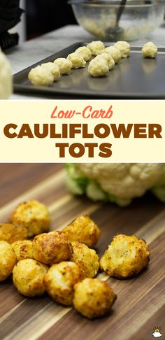 These Baked Cauliflower Tots are a perfect low-carb snack or side dish. | healthy recipe ideas @xhealthyrecipex |
