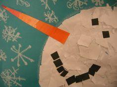 Snowmen at Night Activities Kindergarten | ... in art class after reading books like the snowy day snowmen at night