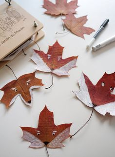Kids create – Fox Leaves Crafts For Kids, Arts And Crafts, Good Excuses, All Nature, Creative Play, Nature Crafts, Some Ideas, Go Outside, Just Love