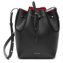 Mansur Gavriel Bucket bag women Pu Leather String Shoulder bag Luxury Bags…