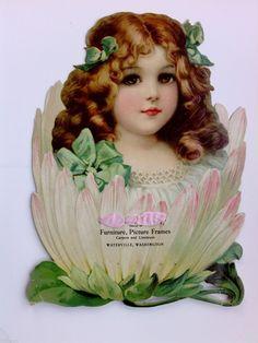 1890s Victorian Girl in Flower Waterville WA