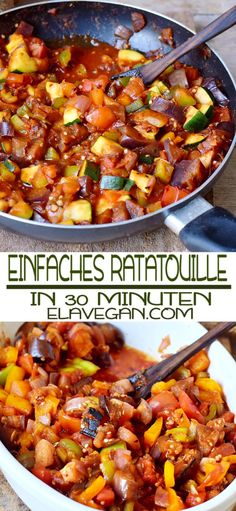 Einfaches Ratatouille Rezept Are you looking for a simple ratatouille recipe that will be ready in a Keto Recipes, Vegetarian Recipes, Vegetable Stew, Vegan Dishes, Eating Plans, Keto Dinner, Tempura, Dinner Ideas, Diet