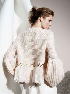 Discover thousands of images about FAM 225 Urban - 46 knitting patterns for men and women, new for - design 36 Knitwear Fashion, Knit Fashion, Knitting Wool, Knit Jacket, Knit Cardigan, Mode Inspiration, Knitting Designs, Designing Women, Knitting Patterns