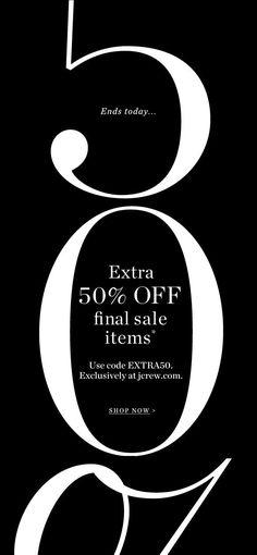 JCrew.com #sale #email #design