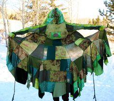 Gypsy Coat, Hippie Pixie JackeT, Fairy Jacket, Hand dyed FestivaL Clothing, EartHy Lady LoVe