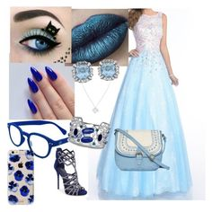"""""""Blue Yule Ball"""" by jensunicorn on Polyvore featuring Envious Couture, See Concept, Wolf & Moon, BillyTheTree, T-shirt & Jeans, Giuseppe Zanotti and Sonix"""