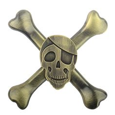 Uspeedy Skeleton Fidget Spinner Fidget Killing Time Toys for For ADD ADHD Anxiety and Autism Adult and Children (9 2 Bronze)