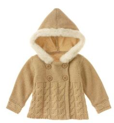 Winter Frost knit jacket and hood