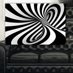 Spiral Black n' White - Abstract Art Canvas Print in. wide x 16 in. high) (ink and wood) Black Canvas Paintings, Canvas Art Prints, Abstract Images, Abstract Art, Best Canvas, Black And White Abstract, African American Art, Design Art, Wall Design