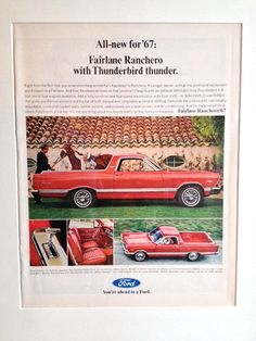 Ford Ranchero 1967 Framed Page LIFE December 23 1966