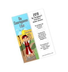 Jonah Be Courageous Convention Bookmark   JW Convention 2018   Convention Gifts   Special Convention   Regional Convention   JW Bookmarks