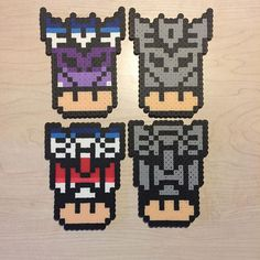 Transformers mushrooms perler beads by awesomeangela13
