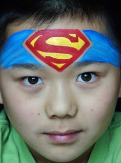 superman face paint