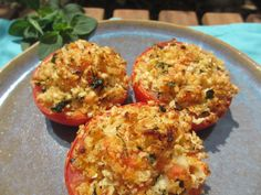 Summer time! Delicious stuffed #tomatoes in the oven, from my mum's..of course!