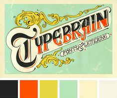 This let ter ing spec i men, cre ated by Typebrain, was inspired by the envelope for Spanish cigarette rolling papers from 1899.