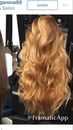 Golden Honey Blonde - New Hair Honey Blonde Hair Color, Blonde Hair Looks, Blonde Hair Shades, Golden Blonde Hair, Blonde Color, Blonde Highlights, Long Blonde Curls, Balayage Hair, Pretty Hairstyles