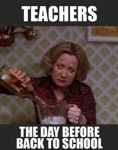 Drink up before school starts back