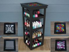 BLACK+4+Tier+Tower+Nail+Polish+Carousel+by+NLpalletcreatives,+$59.99
