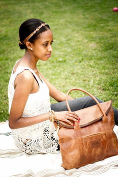 www.parkerclay.com Ethically made Leather Purse: Camel & Leather Headband @parkerclayintl