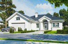 Красивый дом с большим гаражом и с чердачным помещением S8-227-5 (Дом на Парковой). Визаулизация 1. Shop-project