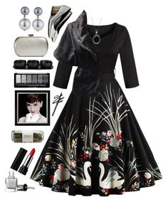 """Untitled #1808"" by tinkertot ❤ liked on Polyvore featuring Kenneth Jay Lane, Tina Frey Designs, Whiting & Davis, Nanacoco, UN United Nude and Kat Von D"