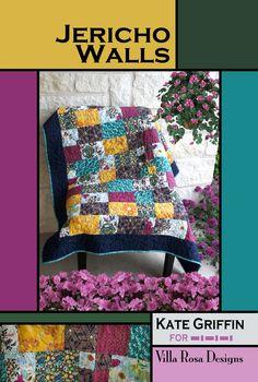 Jericho Walls - A Villa Rosa Pattern x - 5914 Scrap Quilt Patterns, Card Patterns, Rose Patterns, Fat Quarters, Kate Griffin, Villa Rosa, Farm Quilt, Pretty Cards, Quilting Tutorials