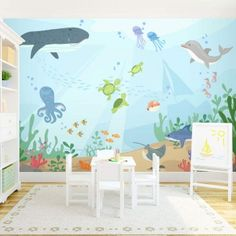 Under the Sea Wall Mural The cutest wall for a or rooms! Under the Sea Wall Mural by leanna