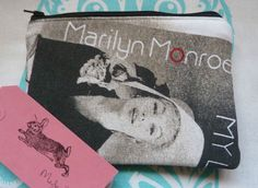 Handmade Small Makeup Bag Marilyn Monroe Cosmetic Bag Pouch Retro Film Fabric in Clothes, Shoes & Accessories, Women's Accessories, Purses & Wallets | eBay