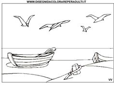 Barca Spiaggia Adult And Teen Coloring Pages
