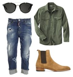 """Без названия #18"" by zuxrav on Polyvore featuring Dsquared2, Yves Saint Laurent, Carrera, men's fashion и menswear"